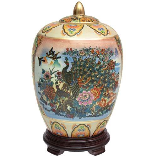 ORIENTAL Furniture Satsuma Porzellan-Vase, 28 cm, Mehrfarbig