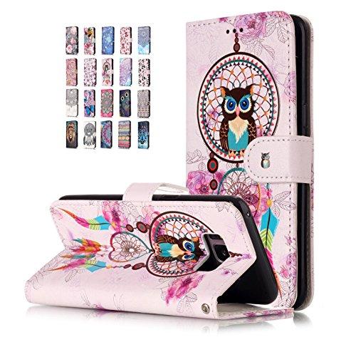 Universecase Funda Compatible con Huawei P30 Pro Cartera Owl Dream Catcher Diseño Cuero con Iman Cierre Tarjetero Libro Shell Cover Inquebrantable para Mujer Chica