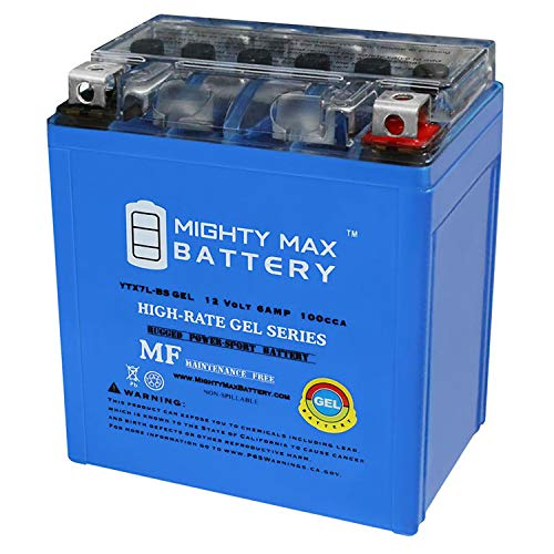 Mighty Max Battery 12V 6AH 100CCA Gel Battery for Honda 250 CMX250C Rebel 1996-2014 Brand Product