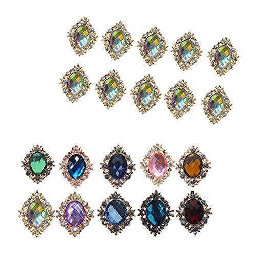 lahomia 20 piezas de diamantes de imitación para decoración de boda con botón de cristal DIY hebilla accesorio