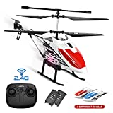 DEERC DE51 Remote Control Helicopter Altitude Hold RC Helicopters with Gyro for Adult Kid Beginner,2.4GHz Aircraft Indoor Flying Toy with 3.5 Channel,High&Low Speed,LED Light,2 Battery for 20 Min Play