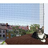 Trixie Filet de Protection 2 × 1,5 m Noir pour Chat