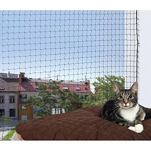 Trixie 44321 Schutznetz, 4 × 3 m, schwarz