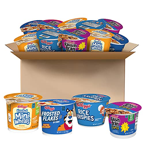 Kellogg's Breakfast Cereal, Variety Pack, Assortment Varies, Single Serve (24 Cups)