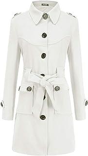 2459b087acb1b Femmes Long Manteaux Revers Manches Longues Pardessus Trench-Coat Hauts  Blousons Mode Slim Outerwear Parkas