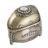 Joyero de Metal Vintage Creativa Inmortal Flor de aleación de Zinc joyería Caja de Metal la decoración del Arte Caja de Almacenamiento (Color : Bronze, Size : 8x6x7cm)