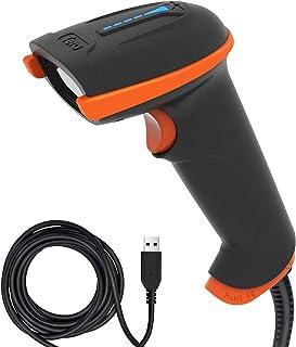 قارئ باركود USB مطور بتقنية ليزر 1D من تيرا، حاصل على شهادة رسمية، مقاوم للصدمات، مضاد للماء، مقبض مريح للغاية، القارئ برم...
