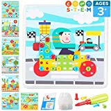 Fine Motor Skill Building Toy with STEM Activities for Kids Ages 3-5 | 116 Piece Preschool Arts and Crafts Kit for 3 4 5 Year Old Boys and Girls