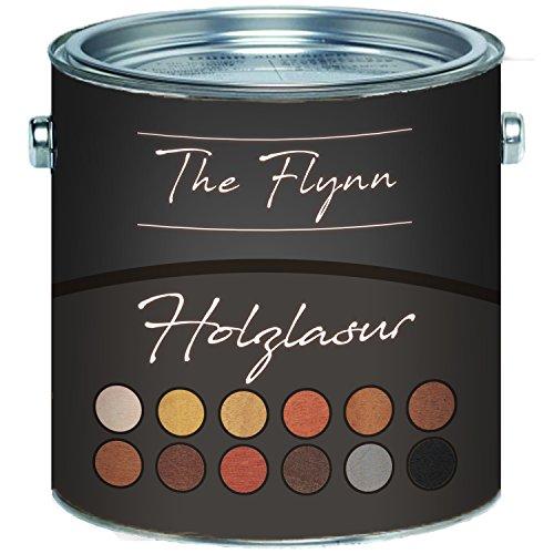 The Flynn hochwertige Holz-Lasur wetterfest atmungsaktiv UV-beständig Holzöl (1 L, Palisander)