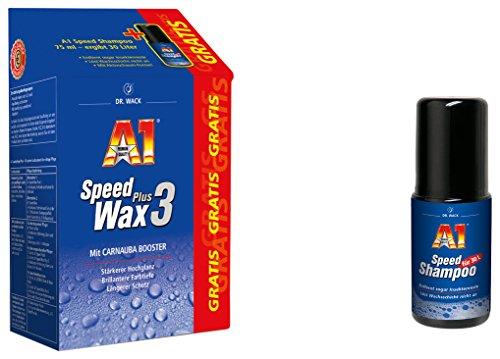 Dr. Wack - A1 Speed Wax Plus 3, 500 ml inkl. GRATIS A1 Speed Shampoo, 75 ml(#27301)