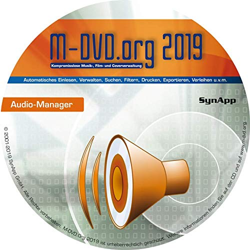 M-DVD.Org 2019 - Audio-Manager - Musik- & Cover-Verwaltung (CD, LP, MP3, uvm.)
