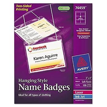 avery 74459 name badge template