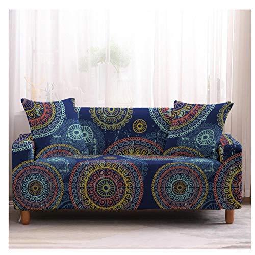 empty Elastische Sofabezug, Wohnzimmer-Sesselbezug, Sofabezug All-Inclusive, Kreisförmiger Farbdruck 190x230cm