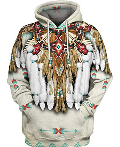 Indian Native Harajuku Colorful Chándal 3D Full Print Hoodie/Sweatshirt/Jacket Just picture1 6XL