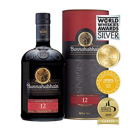Bunna hab Hain 12 anni di Islay Single Malt Scotch Whisky, 700 ml