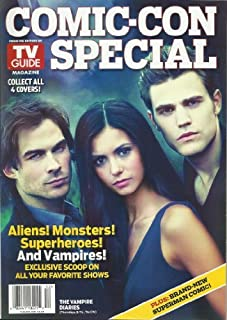 TV Guide Magazine Comic Con Special with cast of the Vampire Diaries on the cover July 2010