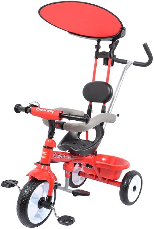 YRC- Tricycle for des Enfants, Tricycle De Bébé De Trike for 1.5-5 Ans, 74  56  91cm (Couleur   rouge)