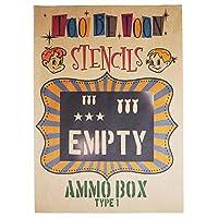 ステンシルシート AMMO BOX(弾薬箱) (type1)