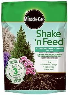 Scotts Miracle Gro 3002410 Shake 'N Feed Flowering Tree & Shrub Plant Food, 8-Lbs, Covers 240-Sq. Ft. - Quantity 4