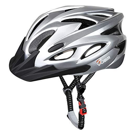JBM Adult Cycling Bike Helmet Specialized for Mens Womens(Silver, Adult)