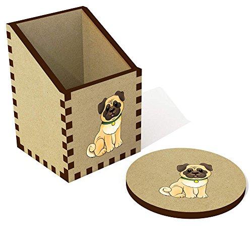 Azeeda 'Pug Dog' Desk Tidy / Pencil Holder (DT00064374)