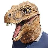 Taoke Dinosaurio del Traje de Mundo Jurásico Dinosaurio Máscara, Máscara Overlord Head Set de Halloween Látex, Disfraces de Halloween dongdong