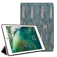 PRINDIY iPad 2017/iPad 2018//iPad カバー,PC + PU 耐摩耗性 傷防止 耐衝撃 三つ折りブラケット 三つ折 プロテクターカバー iPad 2018/2017/iPad Case-G 147