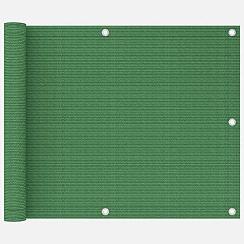 vidaXL Toldo para Balcón Parasol Pantalla Privacidad Malla Ocultación Patio Jardín Terraza Protección Impermeable HDPE Verde Claro 75x300 cm