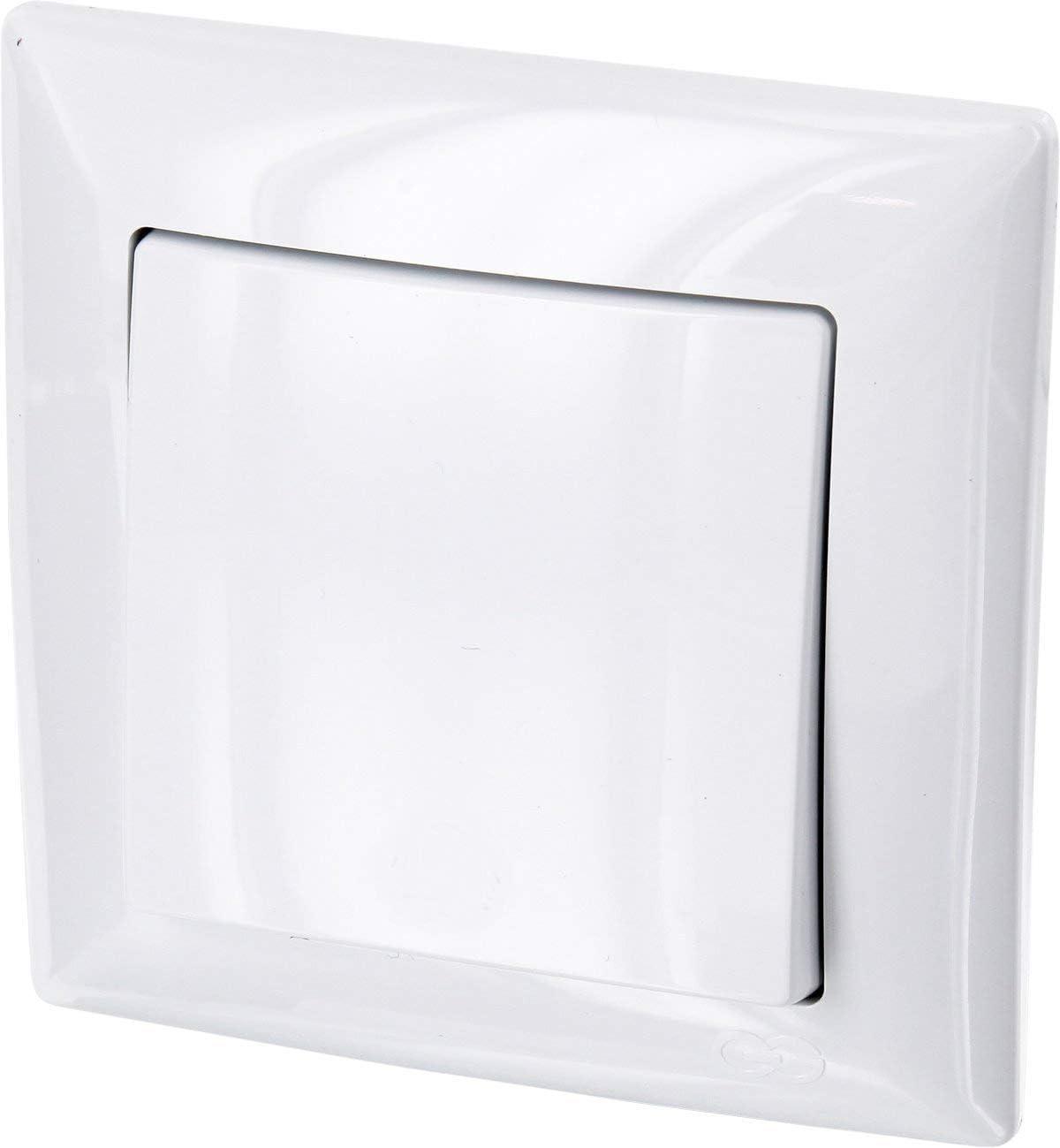 Interruptor de encendido/apagado todo en uno, marco + pieza empotrable + cubierta (serie G1 de color blanco).