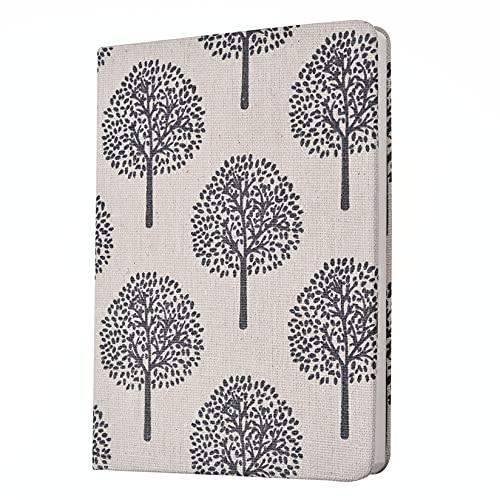 Cuaderno Diario Composición Cuaderno, Línea Horizontal Bloc de Notas A5 Diario Flor y Poemas de árboles y Cuadernos en Lienzo Simple Bloc de Notas Suministros Escolares Cuaderno Diario de Cuero
