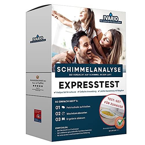 Schimmeltest - Expresstest für Zuhause: Der Schimmelpilz Schnelltest für bis zu 6 Räume – Inkl. ausführlicher Anleitung und Hilfestellung