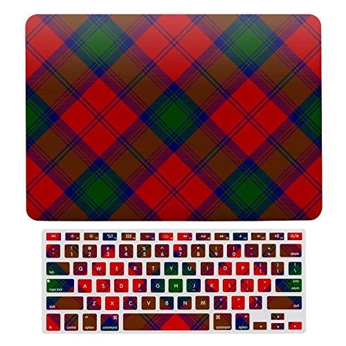 Funda rígida de plástico para MacBook Air 13 A1466, A1369, compatible con MacBook Air 13, Lindsay Tartan Red Green Plaid – A129 Laptop Protective Shell Set