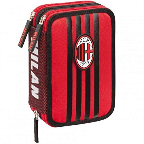 AC Milan 62689 Federmäppchen mit 3 Reißverschlüssen