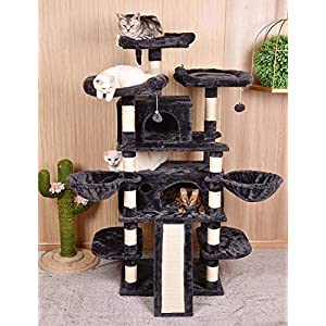 Amolife Heavy Duty 68 Inch Multi-Level Cat Tree King/X-Large Size Cat Tower with Scratching Posts Kitty Pet Play House…