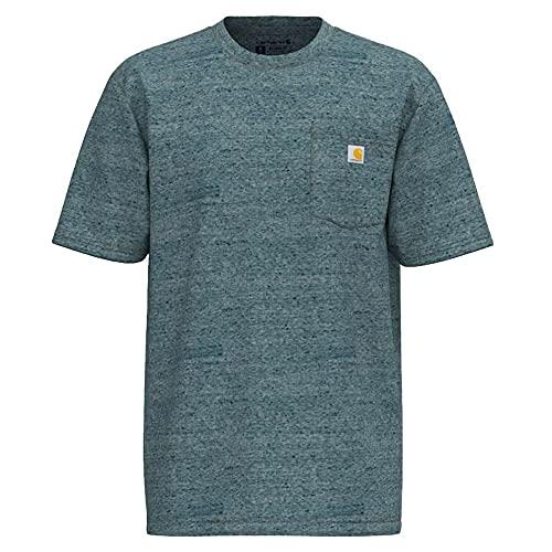 Carhartt Workwear Pocket Short-Sleeve T-Shirt Camiseta Funcional de Trabajo, Brezo de Abeto...