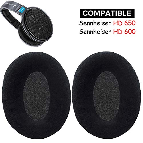 HD 650 Earpads Replacement Ear Pads Cushions Kit Muffs Parts Compatible with Sennheiser HD 650 HD 600 Open Back Professional Headphone.