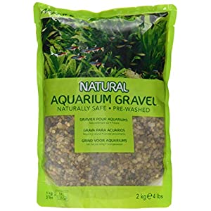 Marina Decorative Aquarium Gravel Natural Creek, Grey, 2 – 4 mm, 2 Kg