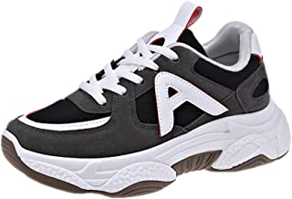 AUCDK Women Fashion Sneakers Mesh Upper Breathable Shock Absorbing Platform Trainers with Non Slip Sole for Running