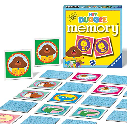 Ravensburger 20634 Hey Duggee-Mini Memory Game for Kids Age 3 Years and up