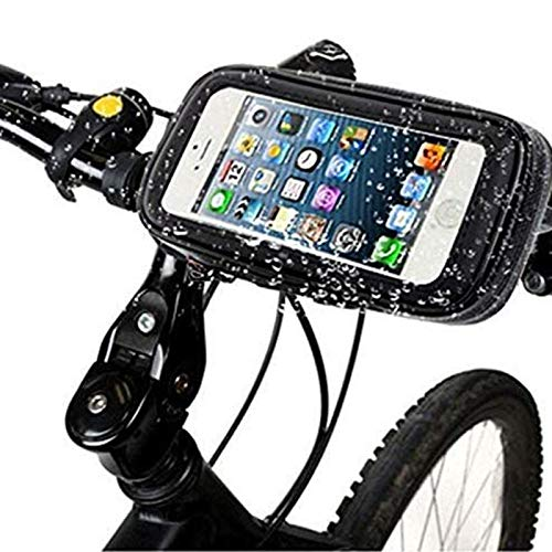 ZHTY Touch Screen Motor Bikes Handlebar Pouch Bag, Waterproof Shock Resistant 360 Rotating Bicycle Frame Phone Bag Compatible with Phones Up To 6.2' SONG