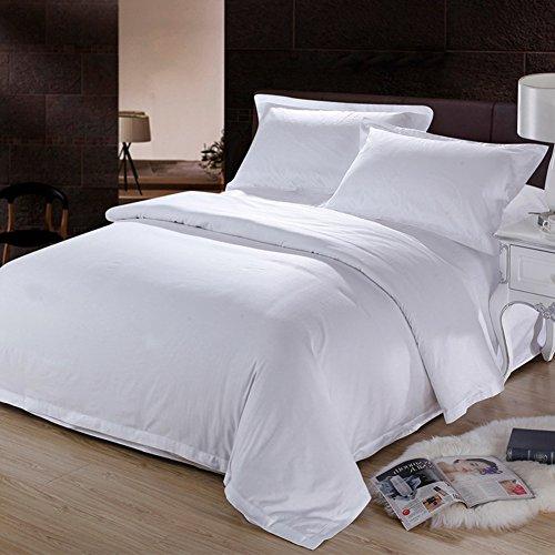 Private home textiles Fundas nórdicas Juegos de Cama Colecciones hoteles Puros de algodón Minimalista Blanco-A Queen2
