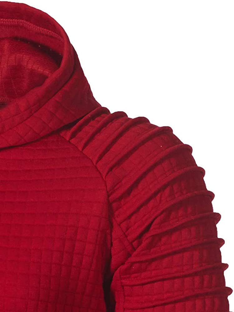 Men Hoodies Drawstring with Pocket Men's Square Hooded Athletic Casual Pullover Long Sleeve Sweatshirt