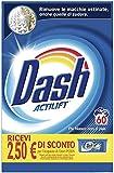 Dash Detergente en polvo para lavadora, 60 lavados, clásico, tamaño grande, elimina las manchas, brillo para todas las prendas