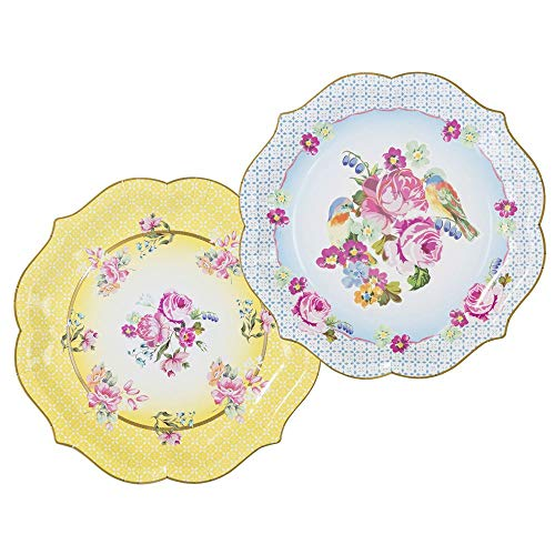Luck and Luck Platos de Papel para Servir con Texto en inglés Truly Scrumptious Talking Tables (4 Unidades)