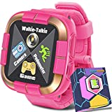 Kids Smartwatch for Boys Girls Toddlers, Kids Game Smart Watch with Camera Touch Screen Pedometer, Kids Wrist Bracelet Electronic Toys Watches Holiday Birthday Gifts for Kids Age 3-12 (Pink)
