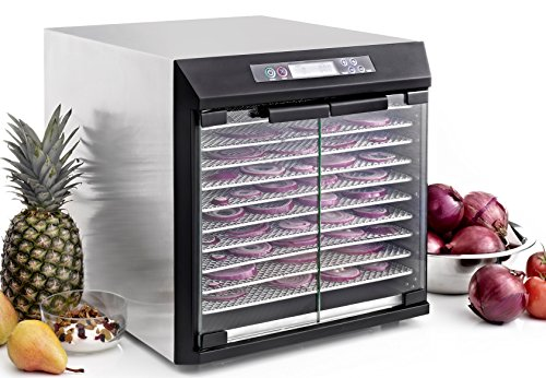 Excalibur EXC10EL Electric Food Dehydrator NSF Approved with Digital Controller Features 99-Hour Timer with Adjustable Time and Temperature Auto Shut Off, 10-Tray, Silver