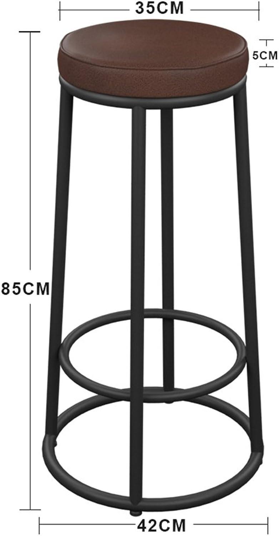 Stühle FEI Bequem Barhocker Frühstücksbar, Zhler, Küche, Zuhause  (Holz PU-Pad) Stark und langlebig (Farbe   PU pad, gre   85cm)