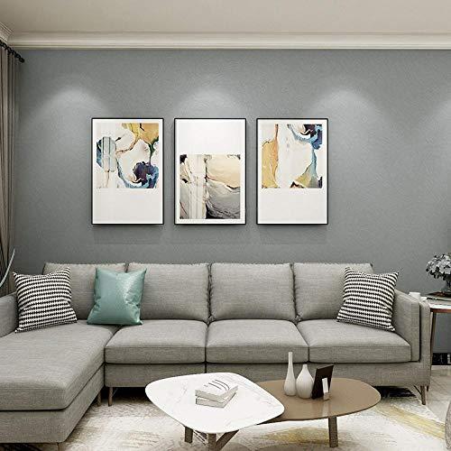WEIFENG Nordische Stil Tapete Schlafzimmer Wohnzimmer Einfache Moderne Schlichte Hellgraue Einfarbige Home Ins Vlies Tapete