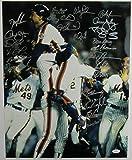 1986 Mets Team Signed 16x20 Photo Gary Carter Darryl Strawberry Dwight Gooden +20 JSA