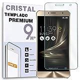 REY Protector de Pantalla para ASUS ZENFONE 3 Deluxe 5.5' (ZS550KL), Cristal Vidrio Templado Premium